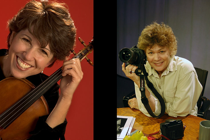 Rebecca Strauss (Music Director) and Susan Wilson (photographer & historian)