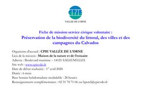 Le CPIE propose 2 services civiques : biodiversité et communication...