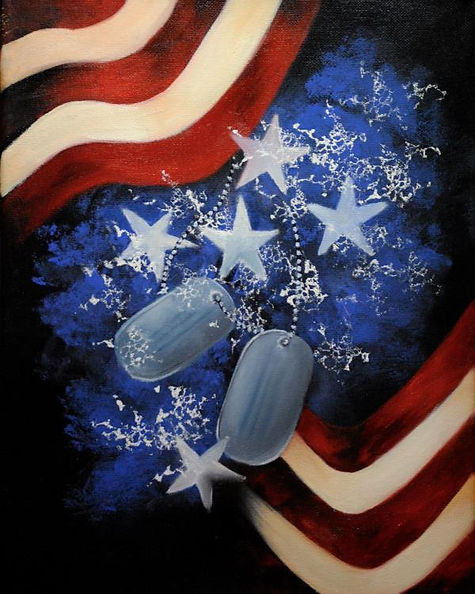 Never Without Your Tags - a Stroke of Patriotism painting