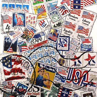 14.  Star Spangled Stamps by Bonnie Cook