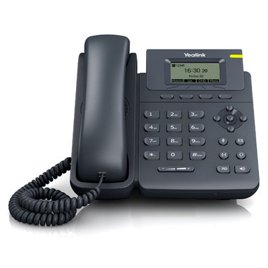 Teléfono SIP-T19-E2 (sin PoE). 1 cuenta SIP, pantalla LCD de 132 x 64 pixeles