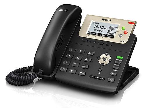 Teléfono IP T23G (PoE) 3 cuentas SIP, Pantalla LCD de 132 x 64 píxeles.