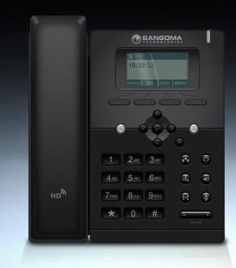 Sangoma S305, Soporta hasta 2 cuentas, 5 en conferencia, VPN.