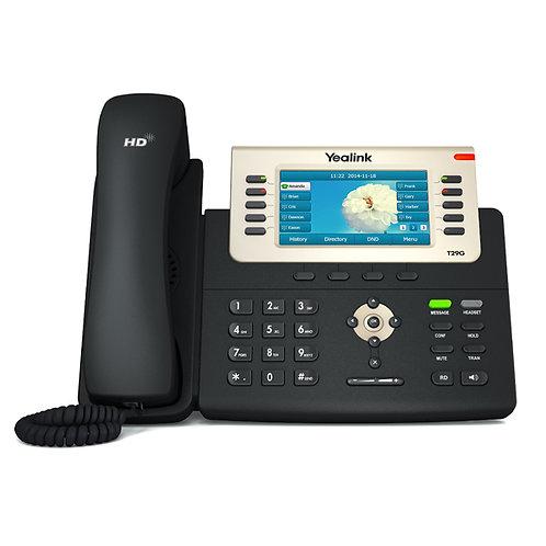 """Teléfono IP T29G, (PoE) 16 cuentas SIP, Pantalla a color 4.3"""" de 480 x 272"""