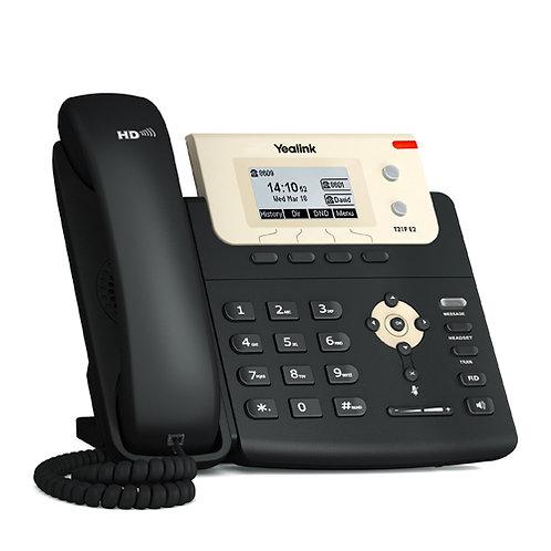 Teléfono IP T21P-E2. PoE 2 cuentas SIP, 2 teclas de línea, pantalla LCD gráfica.
