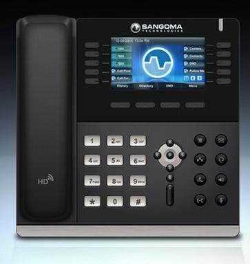 Sangoma S700, Soporta hasta 6 cuentas, display a color, Soporte a Phone Apps.