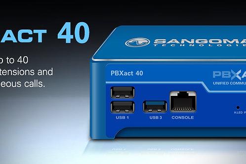 Sangoma PBXT-UCS-40. 40 usuarios / 25 llamadas concurrentes Módulos avanzados.