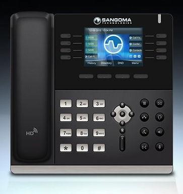 Sangoma S505, Soporta hasta 4 cuentas display a color. Soporte a Phone Apps.