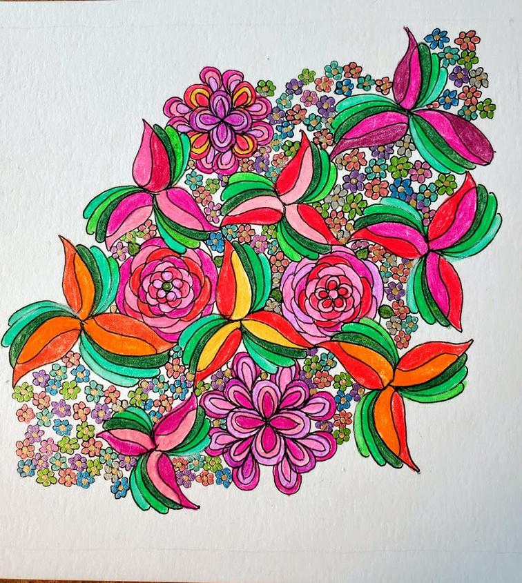 Zentangle Inspired Art: Flowers