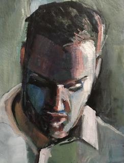 Carl. Acrylic and charcoal; 13x18_