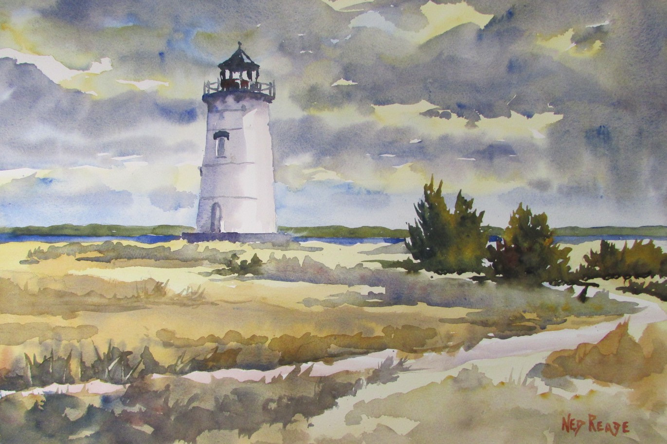 Edgartown Light in January