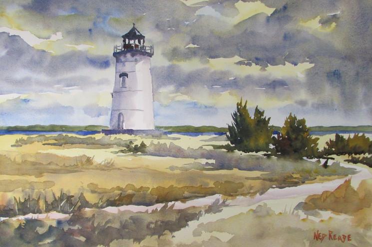 Edgartown Light in January