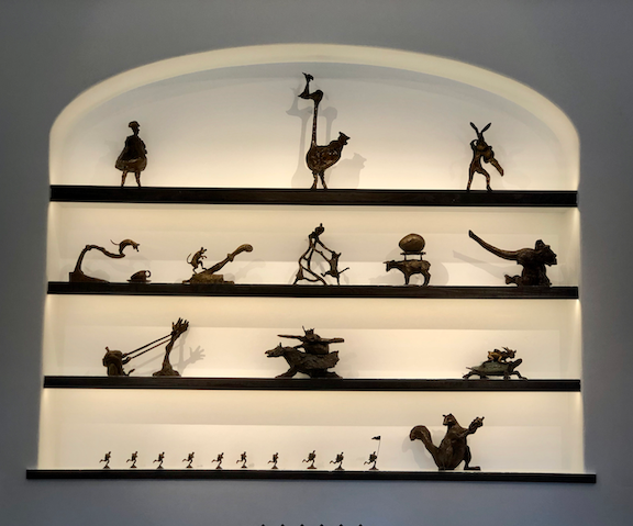 A gallery of bronzes