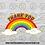 Thumbnail: Thank You Rainbow Pin Badge (30mmx17mm) NHS / Keyworker Tribute