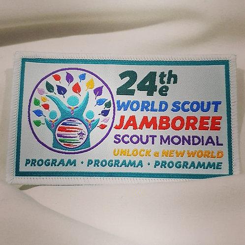 24th World Scout Jamboree 2019 Programme Rectangular Badge