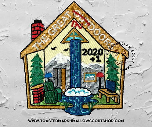 The Great Indoors 2020/2021 Badge (77mmx73mm)