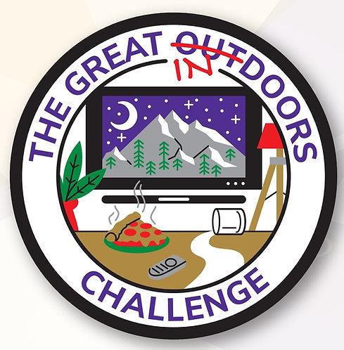 The Great Indoors Challenge Badge (75mm)