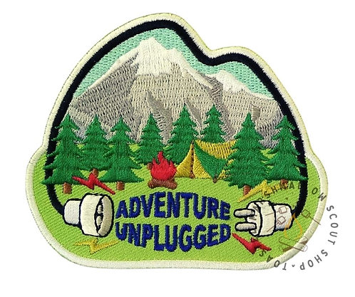 Adventure Unplugged Badge (88mmx75mm)