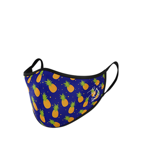 Pineapple Fluid Repellent Reusable Face Mask