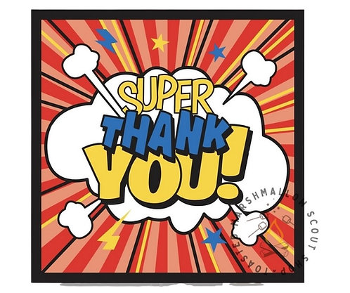 Super Thank You Badge (75mmx75mm)