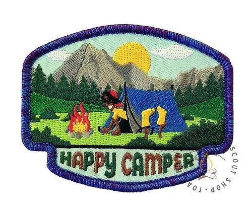Happy Camper Badge (88mmx69mm)