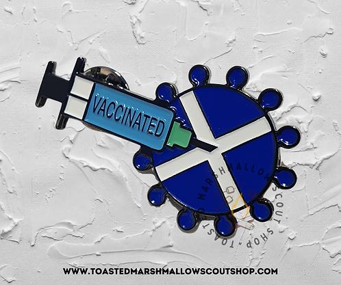 Vaccinated Scotland Pin Badge (45mmx26.5mm)