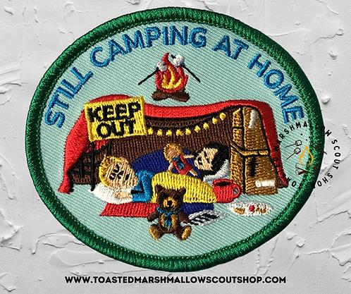 Still Camping At Home Badge (80mmx70mm)