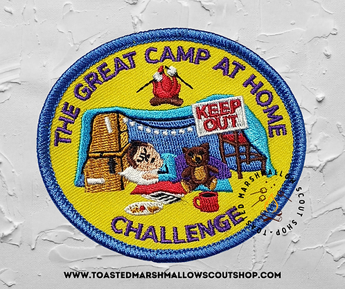 The Great Camp at Home Challenge Badge (80mmx70mm)
