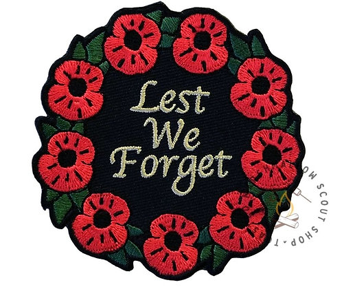 Remembrance Day Wreath Badge (75mmx75mm)