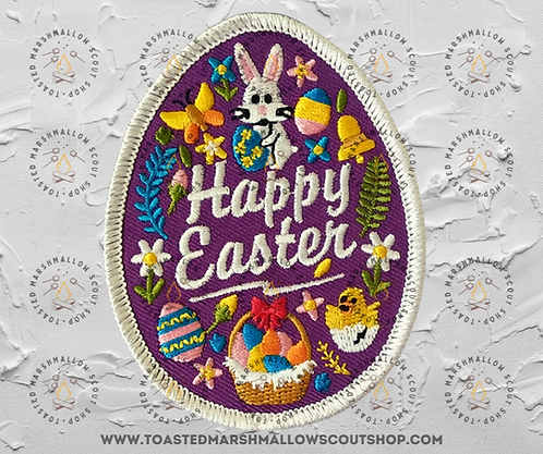 Happy Easter Badge (82mmx64mm)