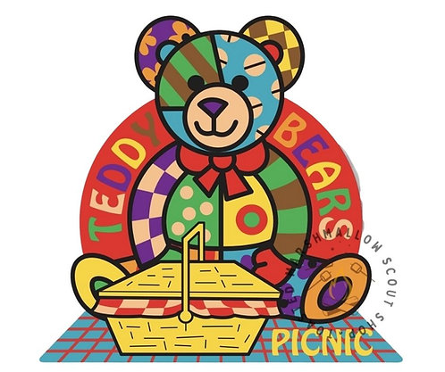 Teddy Bears Picnic Badge (88mmx84mm)