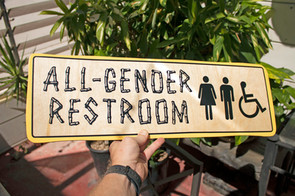 Restroom Wayfinding Signage for The Bamboo Club in Long Beach