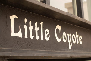 Hand-painted Exterior Signage for Little Coyote Pizza on Retro Row in Long Beach