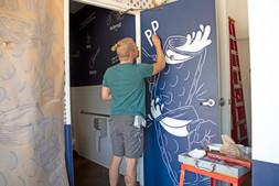Custom Mural for Rasselbock in Long Beach