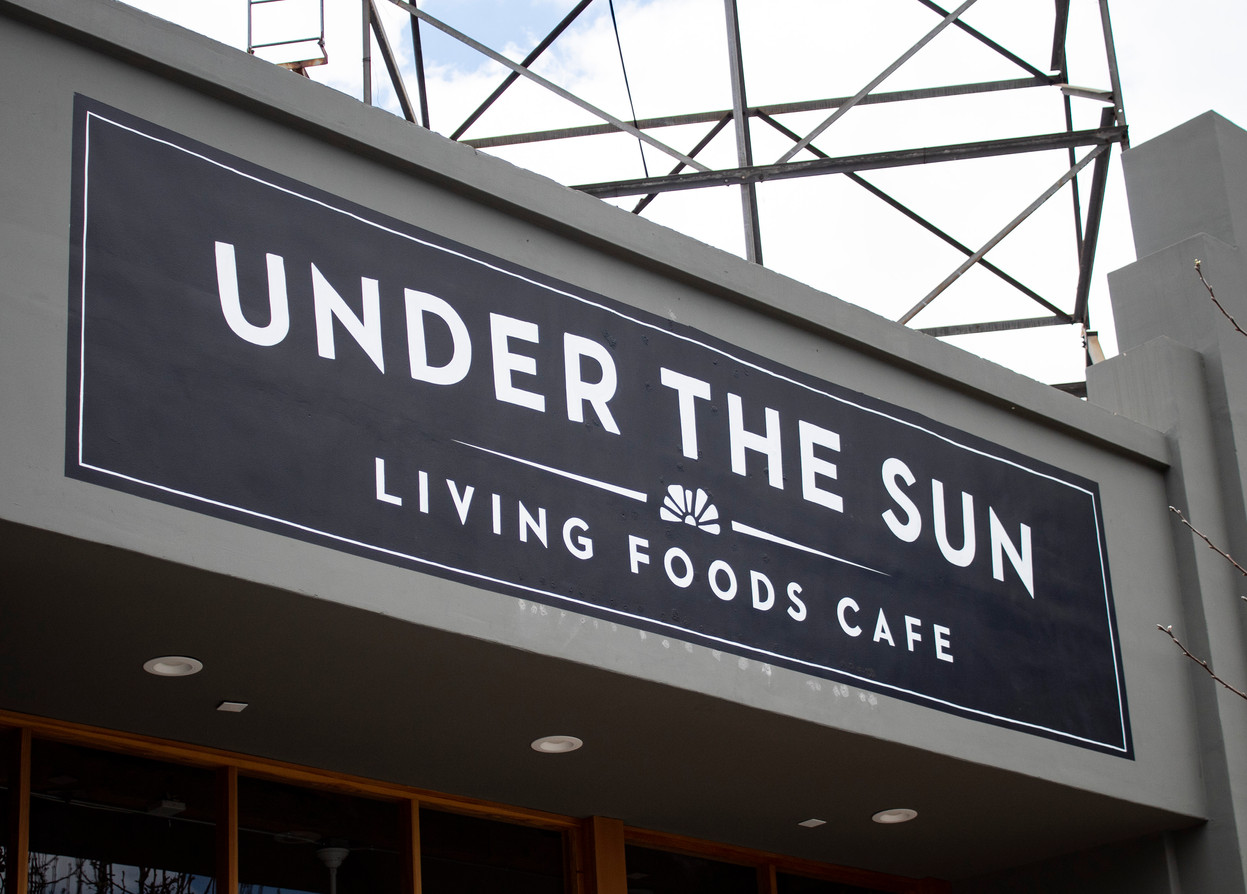 Large Exterior Signage for Under the Sun in Downtown Long Beach