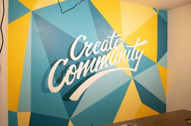 'Create Community' Mural for Envolve