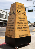 """Custom-built and Hand-painted """"squAre-frame"""" for Salud Juice in Long Beach"""