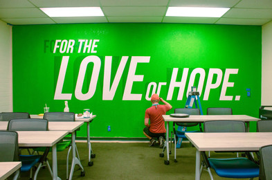 'For the Love of Hope' Mural for Goodwill