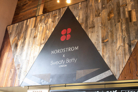 Hand-drawn Environmental Chalk Signage for Nordstrom