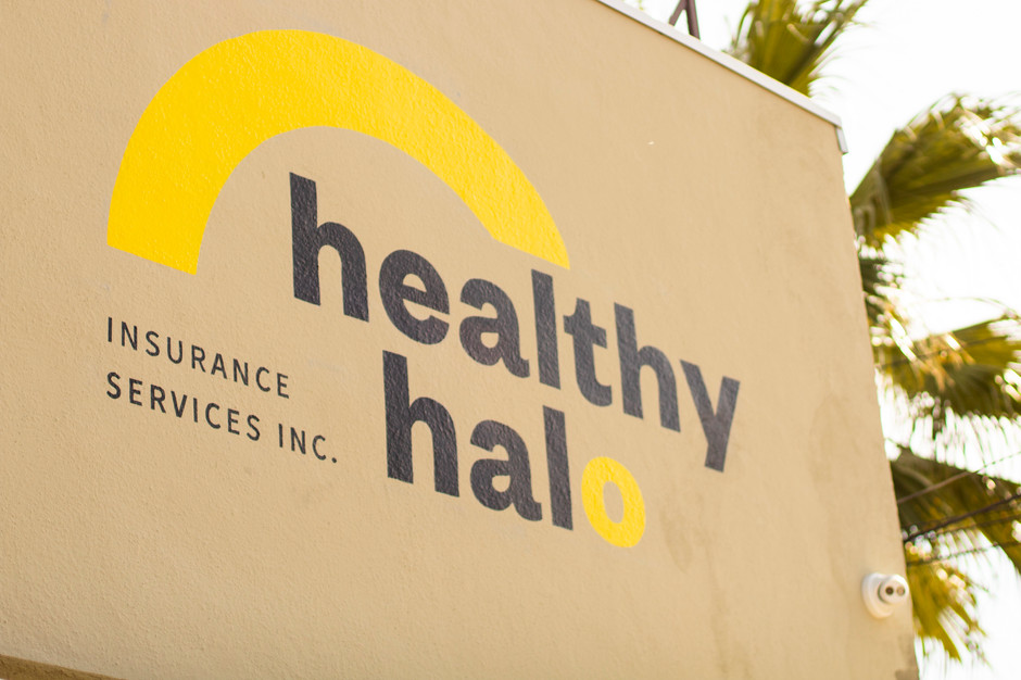 Large Outdoor Mural for Healthy Halo in Burbank, CA.