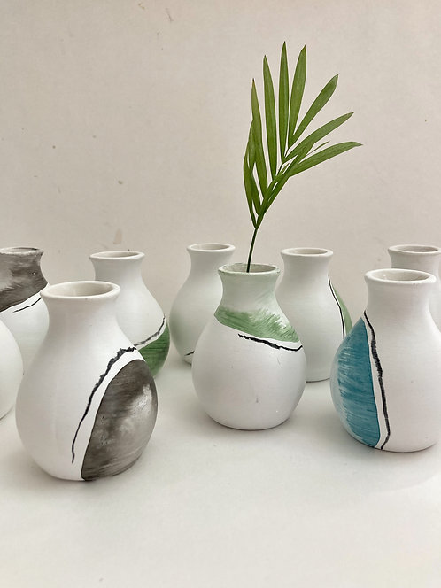 Hand Painted bud Vases