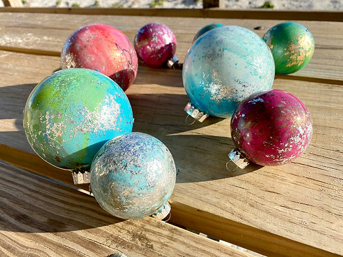 Large Hand Painted Ornaments