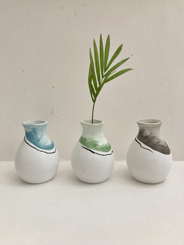 Handpainted vases by Emily Newman