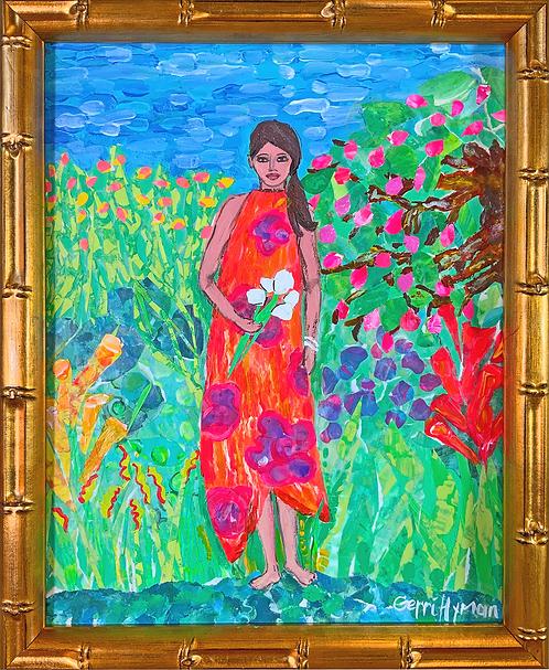 Mia in the Garden