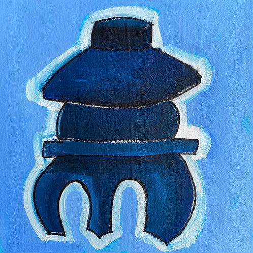 Pagoda in Blue