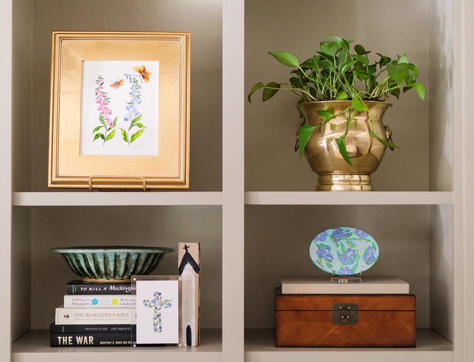 Foxglove Botanical by Camilla Moss