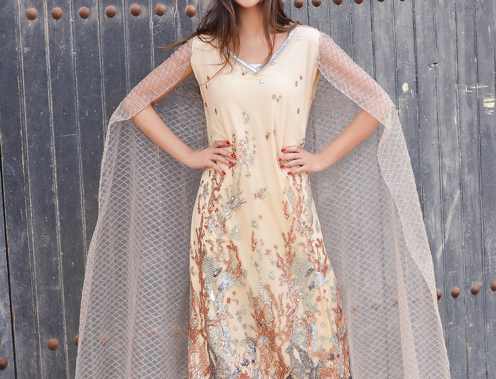The Embroidery Royal Cape Dress