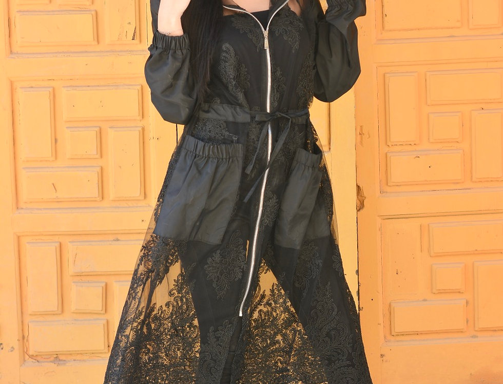 Yaya joubert  zipper jacket  in black