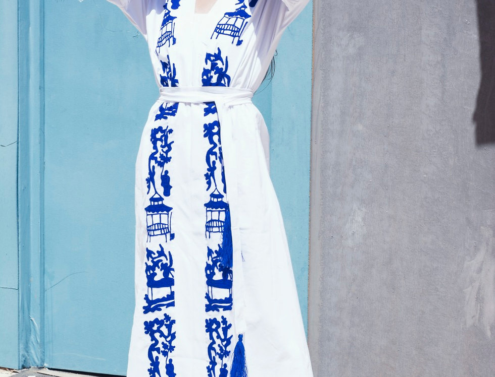 The Japanese embroidery dress