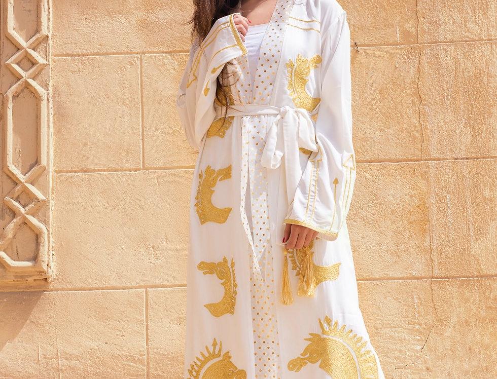 The horse embroidery kimono